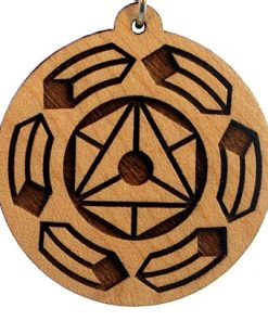 Galactic Rotation Wood Pendant