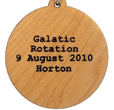 Galactic Rotation Wood Pendant