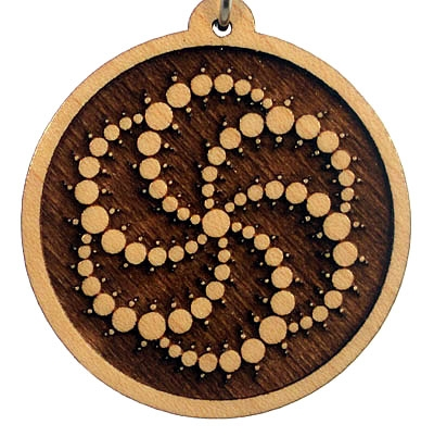 Galaxy Wood Pendant