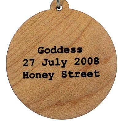 Goddess Wood Pendant