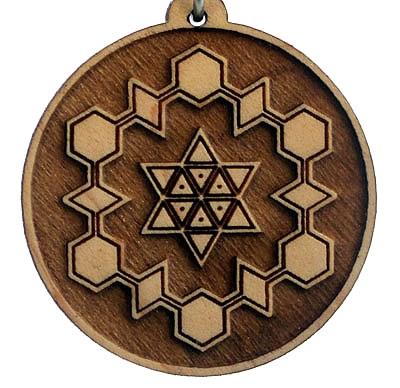 Gratitude Wood Pendant