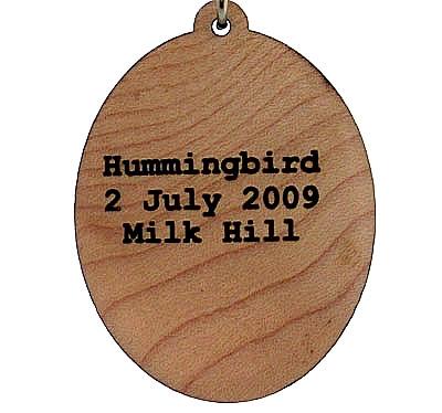 Hummingbird Wood Pendant