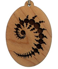 Julius Set Engraved Wood Pendant