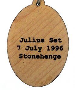 Julius Set Raised Wood Pendant