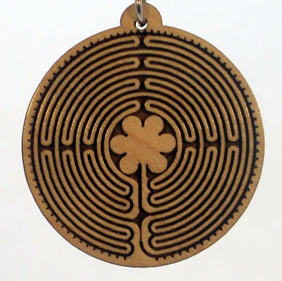Labyrinth of Chartes Wood Pendant
