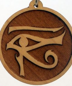 Left Eye of Horus Wood Pendant