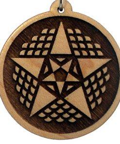 Lucky 13 Wood Pendant