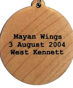 Mayan Wings Wood Pendant