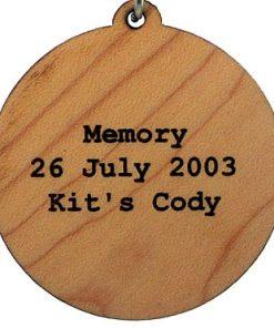 Memory Wood Pendant