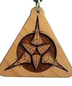 Merkaba Wood Pendant