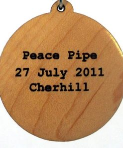 Peace Pipe Wood Pendant