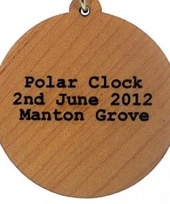 Polar Clock Wood Pendant