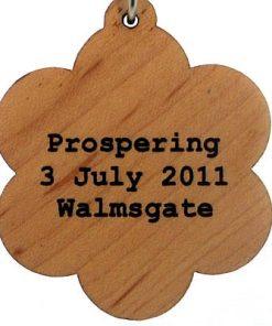 Prospering Wood Pendant