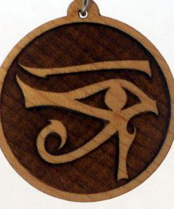 Right Eye of Horus Wood Pendant