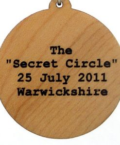 Secret Circle Wood Pendant
