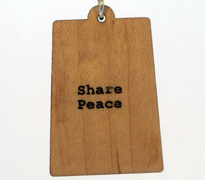 Share Peace Wood Pendant
