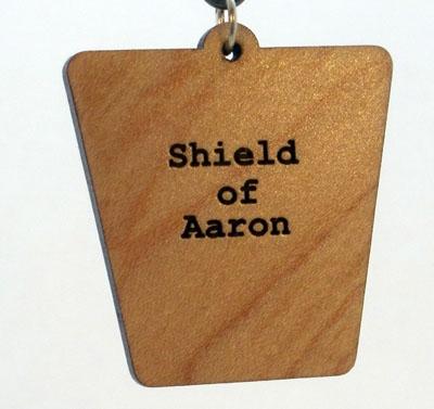 Shield of Aaron Wood Pendant