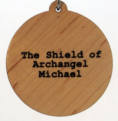 Shield of the Archangel Michael Wood Pendant