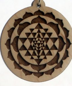 Sri Yantra Wood Pendant