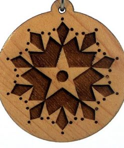 Star Seed Evolution Wood Pendant