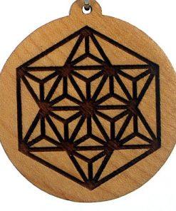 Star Tetrahedron Wood Pendant