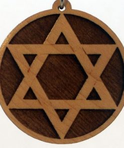 Star of David Wood Pendant