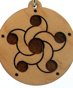 Star of Venus Wood Pendant