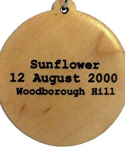 Sunflower Wood Pendant
