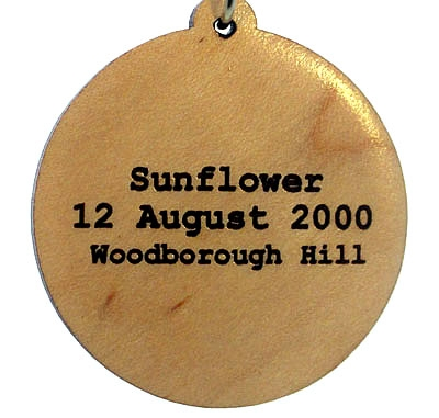 Sunflower Wood Pendant
