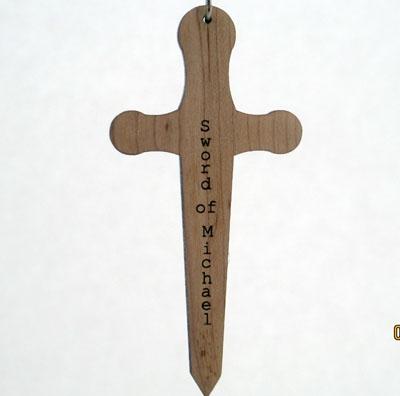 Sword of Archangel Michael Wood Pendant
