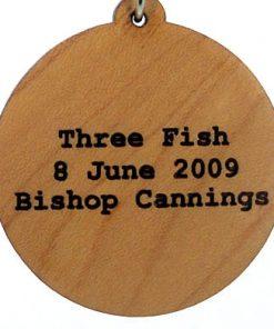 Three Fish Wood Pendant