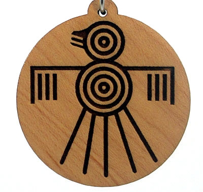 Thunderbird Wood Pendant
