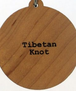Tibetan Knot Wood Pendant