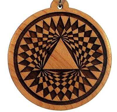 Trinity Wood Pendant
