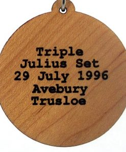 Triple Julius Set Engraved Wood Pendant