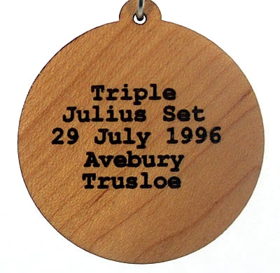 Triple Julius Set Engraved Wood Pendant