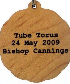 Tube Torus Wood Pendant