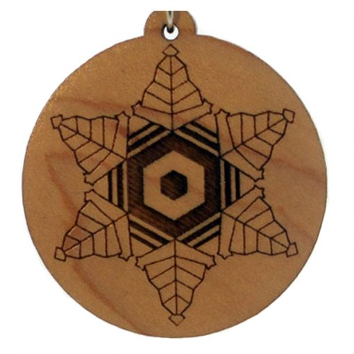 Water Crystal Wood Pendant