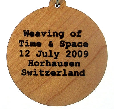 Weaving of Space and Time Wood Pendant