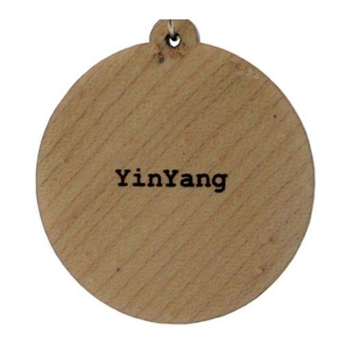 Yinyang Wood Pendant