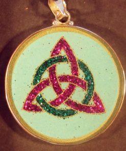 Celtic Trinity Turquoise 01 Gemstone Pendant