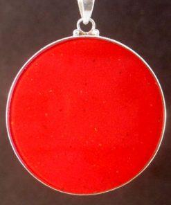 Eye of Horus Coral 01 Gemstone Pendant