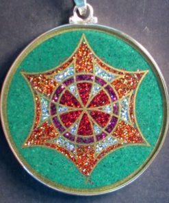 Memory Malachite 03 Gemstone Pendant