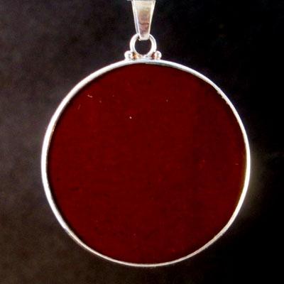 Om Red Jasper 01 Gemstone Pendant