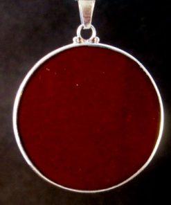 Om Red Jasper 04 Gemstone Pendant