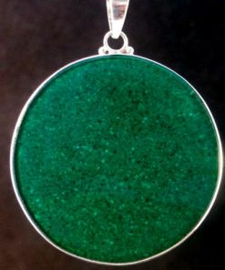 Sri Yantra Malachite 06 Gemstone Pendant