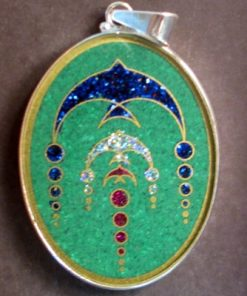 Swallows Malachite 01 Gemstone Pendant