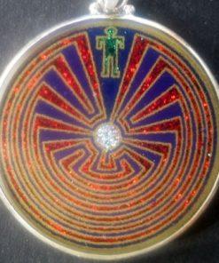 Man in the Maze Lapis Luzuli 01 Gemstone Pendant
