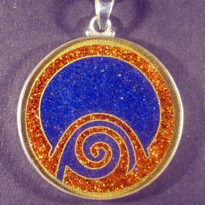 Abundance lapis lazuli 03 Gemstone Pendant