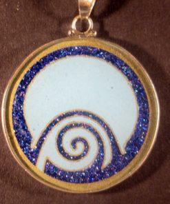 Abundance turquoise 02 Gemstone Pendant